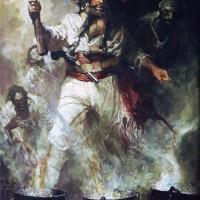 """Фрэнк Шоновер - """"Черная Борода среди дыма и пламени"""", 1922"""