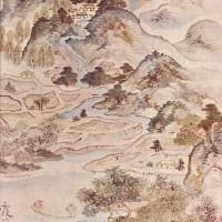 """Икэ-но Тайга - """"Рыбалка весной"""", 1747"""