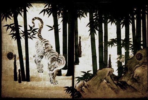 """Кано Таню (1602–1674) - """"Тигр среди бамбука"""""""