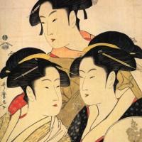 """Китагава Утамаро - """"Три знаменитые красавицы"""""""