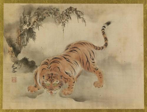 """Кано Исэнъин Наганобу (1775-1828) - """"Тигр в стиле Мао И"""""""