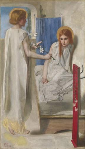 Данте Габриэль Россетти - «Благовещение», 1850
