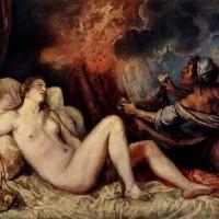 """Тициан - """"Даная"""", 1546"""