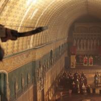 Именно в центре этого зала и был поставлен знаменитый Круглый стол, за которым собирались наиболее близкие к королю люди.