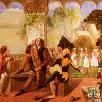 """Уолтер Деверел - """"Акт второй, сцена четвертая из """"Двенадцатой ночи"""", 1850"""
