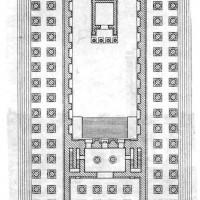 Храм Аполлона в Дидимах. План.